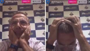 """El llanto desconsolado de Cristóbal Soria tras el pitido final: """"Perdóname, Lopetegui"""""""