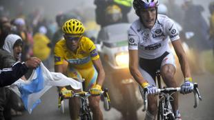La rivalidad entre Contador y Schleck ha sido una de las más...