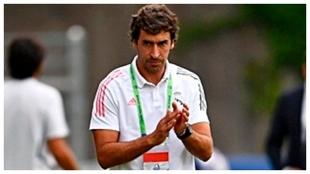 Raúl, durante el partido ante el Inter en Nyon.