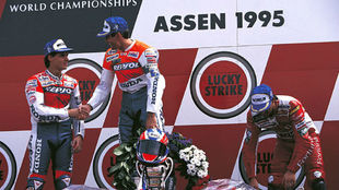 Doohan ganó la carrera, pero la pole de Holanda 1995 fue la primera...