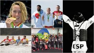 Algunos de los medallitas españoles de Río 20216.