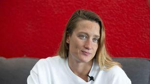 Mireia Belmonte durante una entrevista en MARCA.