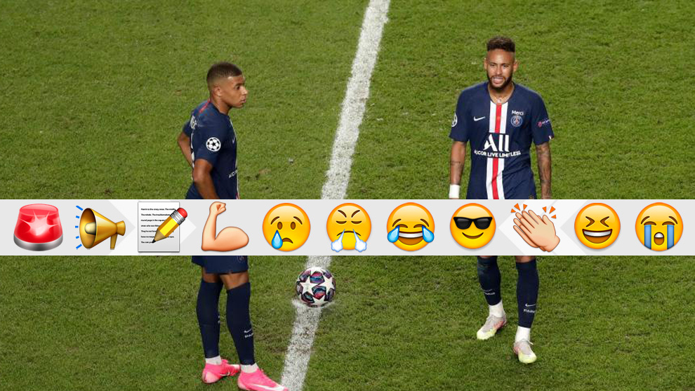 Neymar y Mbappé: las celebraciones... en la final