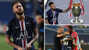 La imagen de la noche: Neymar tocando la copa entre lágrimas...