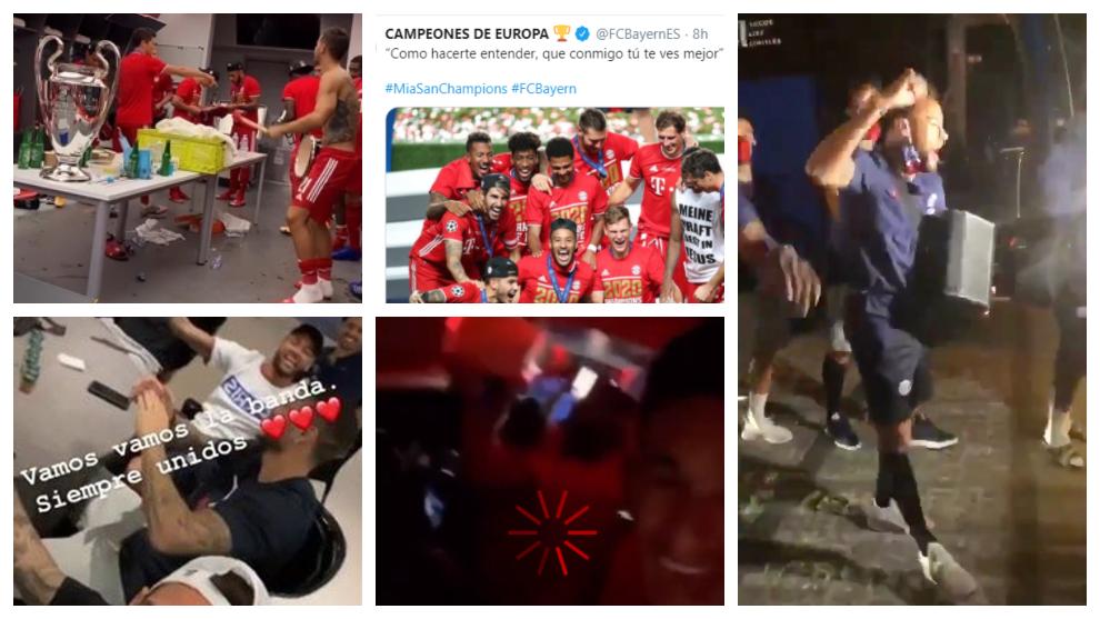 Neymar, Maluma, El Dipy y el 'troleo' del Bayern en la celebración de la Champions