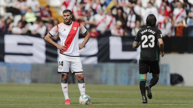 Qasmi, durante el partido que midió a Rayo y Elche.