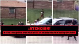 Por la espalda y con sus hijos delante: la policía tirotea a un afroamericano y EE.UU. estalla