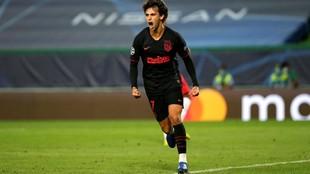 Joao Félix celebra su gol ante el Leipzig.