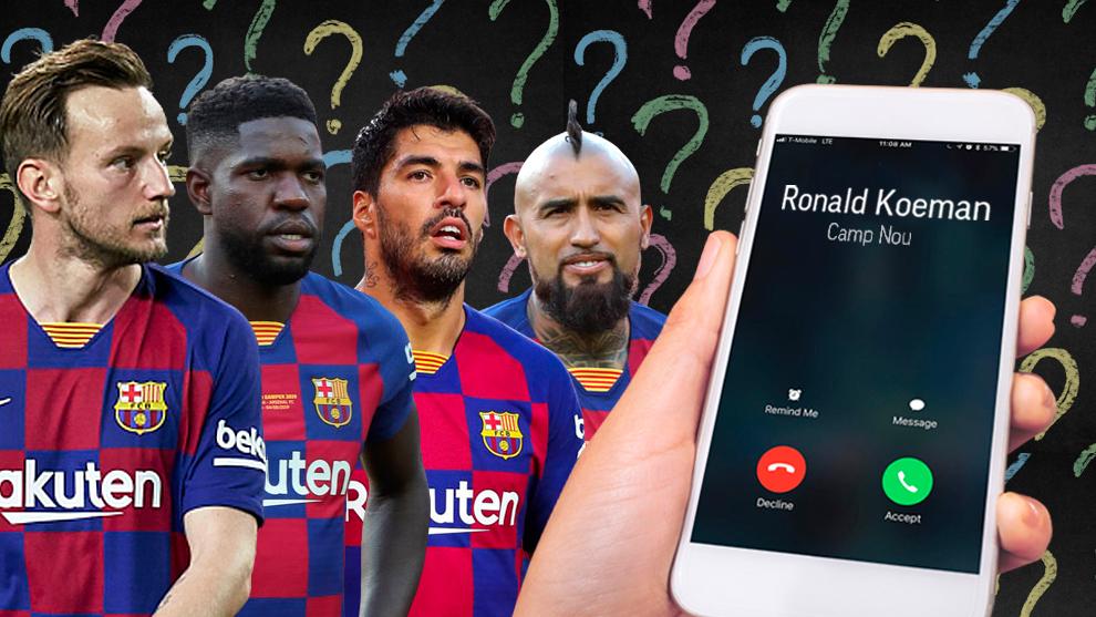 Continúa la criba: Koeman también dice a Arturo Vidal, Rakitic y Umtiti que no seguirán