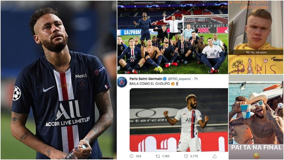 Neymar Jr llorando tras perder la Final de la UEFA Champions League