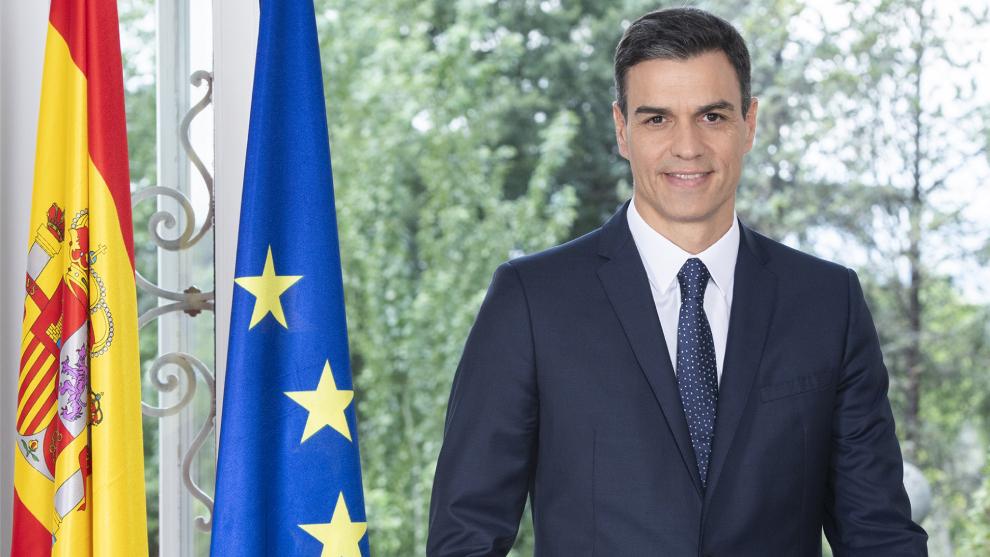 Pedro Sánchez, presidente del Gobierno de España, en La Moncloa.