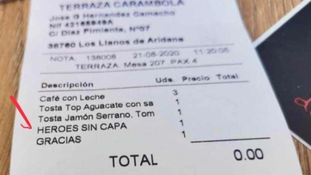 El detalle del bar 'Terraza Carambola' fue aplaudido por miles de...