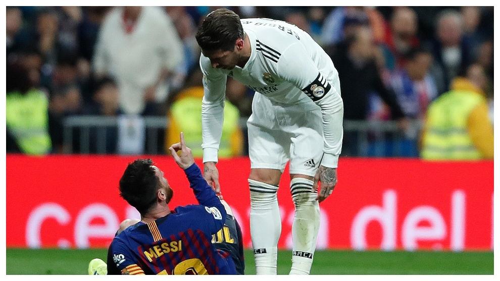 Messi y Sergio Ramos se encaran en un Cl
