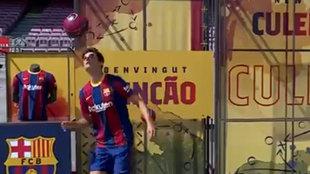 Primeros toques de Trincao con el Barça y pasa esto: hasta el comentarista reaccionó