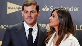 Sara Carbonero e Iker Casillas, en un photocall.