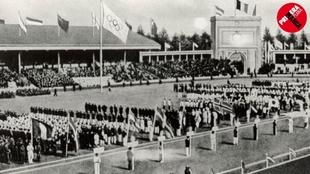 Ceremonia de inauguración de los Juegos de Amberes.