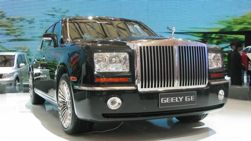 El Geely GE copia sin ningun rubor el fronta del actual Rolls-Royce...