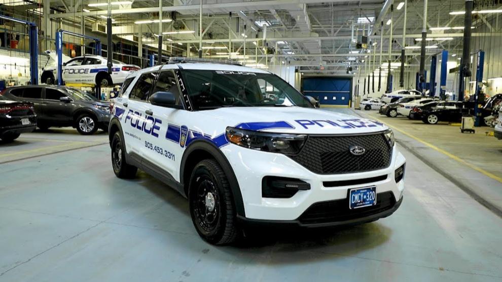 El coche patrulla era un Ford Explorer como el de la imagen