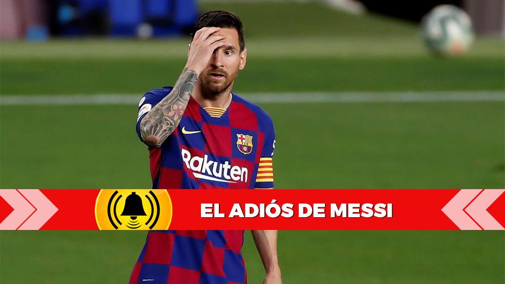 Leo Messi se lamenta por una jugada en pleno partido