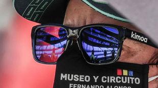 Fernando Alonso, durante la disputa de la Indy500.