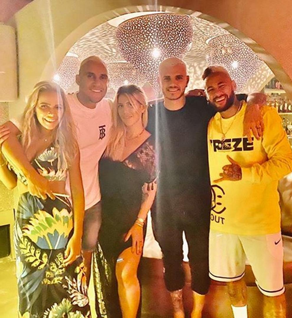 Mauro icardi, keylor navas y neymar, acompañados... | MARCA.com