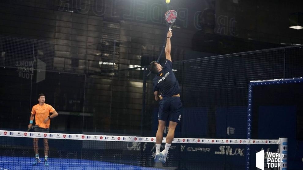 Alejandro Galán, durante las semifinales del Adeslas Open 2020, sin...