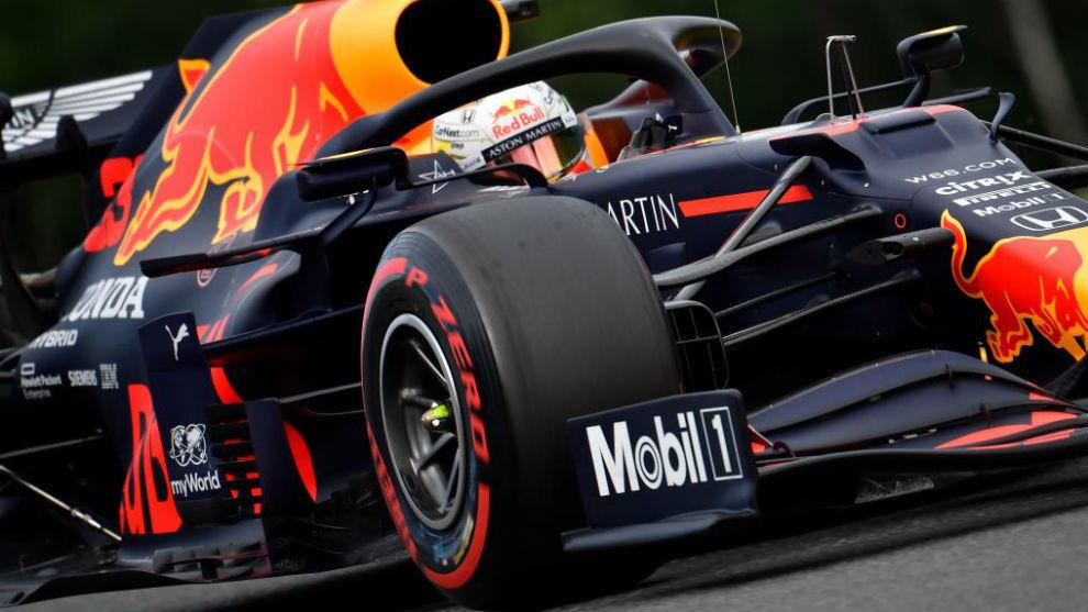 Max Verstappen, durante los Libres 2 del Gran Premio de Bélgica.