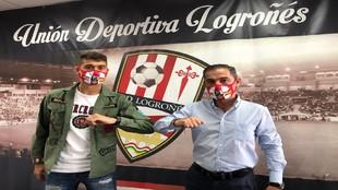 Iago López, presentado como nuevo jugador del equipo riojano