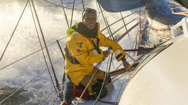 Didac Costa a bordo del IMOCA Open 60 'One Planet One Ocean.