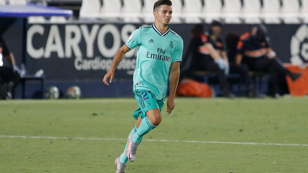 Brahim, en un partido con el Real Madrid.