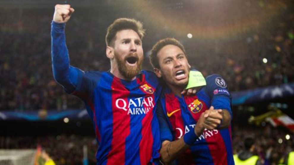 Messi and Neymar.