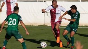 Lance del partido que enfrentóal Albacete y Castellón