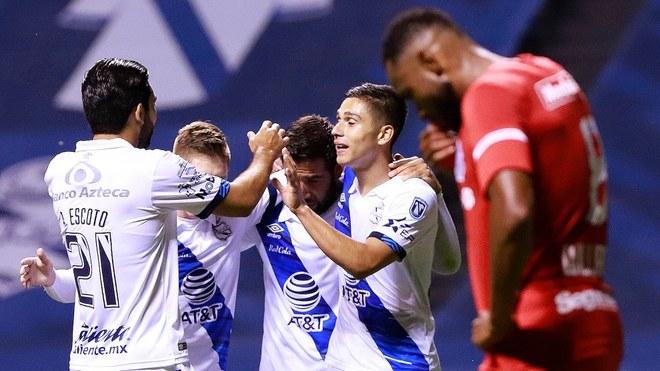 Puebla golea al Toluca en la fecha 7 del Apertura 2020.