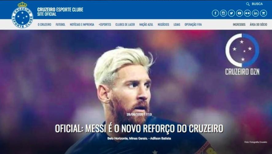 Página web oficial del Cruzeiro