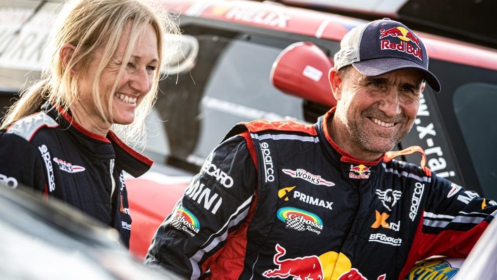 Stéphane Peterhansel no podrá cumplir su sueño de correr el Dakar 2021 con su esposa Andrea