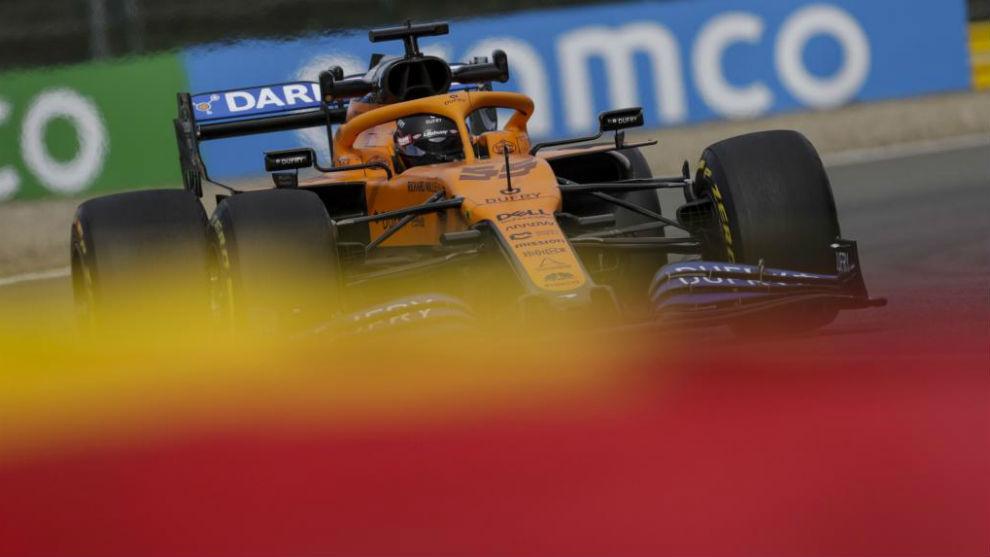 Carlos Sainz, durante el Gran Premio de Bélgica de F1.