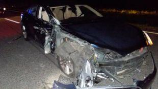 Imagen del Tesla Model S que causó el accidente.