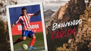 Así anunció el Albacete el fichaje de Carlos Isaac.