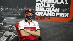 Kimi Raikkonen (40 años), en el GP de Bélgica 2020.