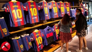 Imagen reciente de las instalaciones del Barcelona con la ropa de...