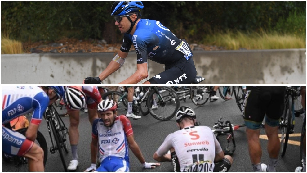 Inopportune selfie causes 20 cyclists to fall at Tour de France
