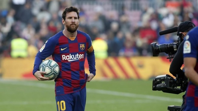 Messi, en un partido