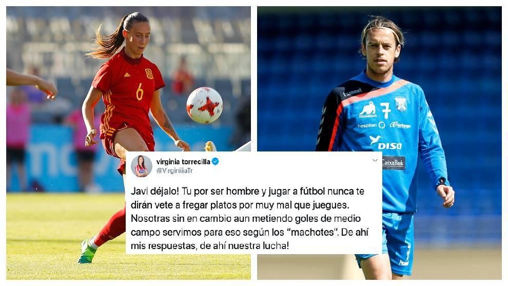 """Virginia Torrecilla a Javi Lara: """"Por ser hombre y jugar a fútbol nunca te dirán vete a fregar platos por muy mal que juegues"""""""