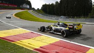 Daniel Ricciardo, durante el GP de Bélgica 2020.