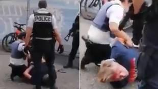 Violencia en el Tour: brutalidad policial a propósito de las mascarillas