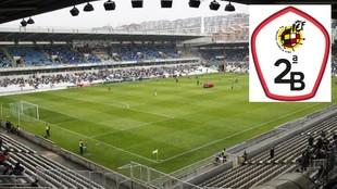 Panorámica del estadio de El Sardinero.