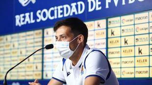 David Silva, durante la rueda de prensa de presentación.