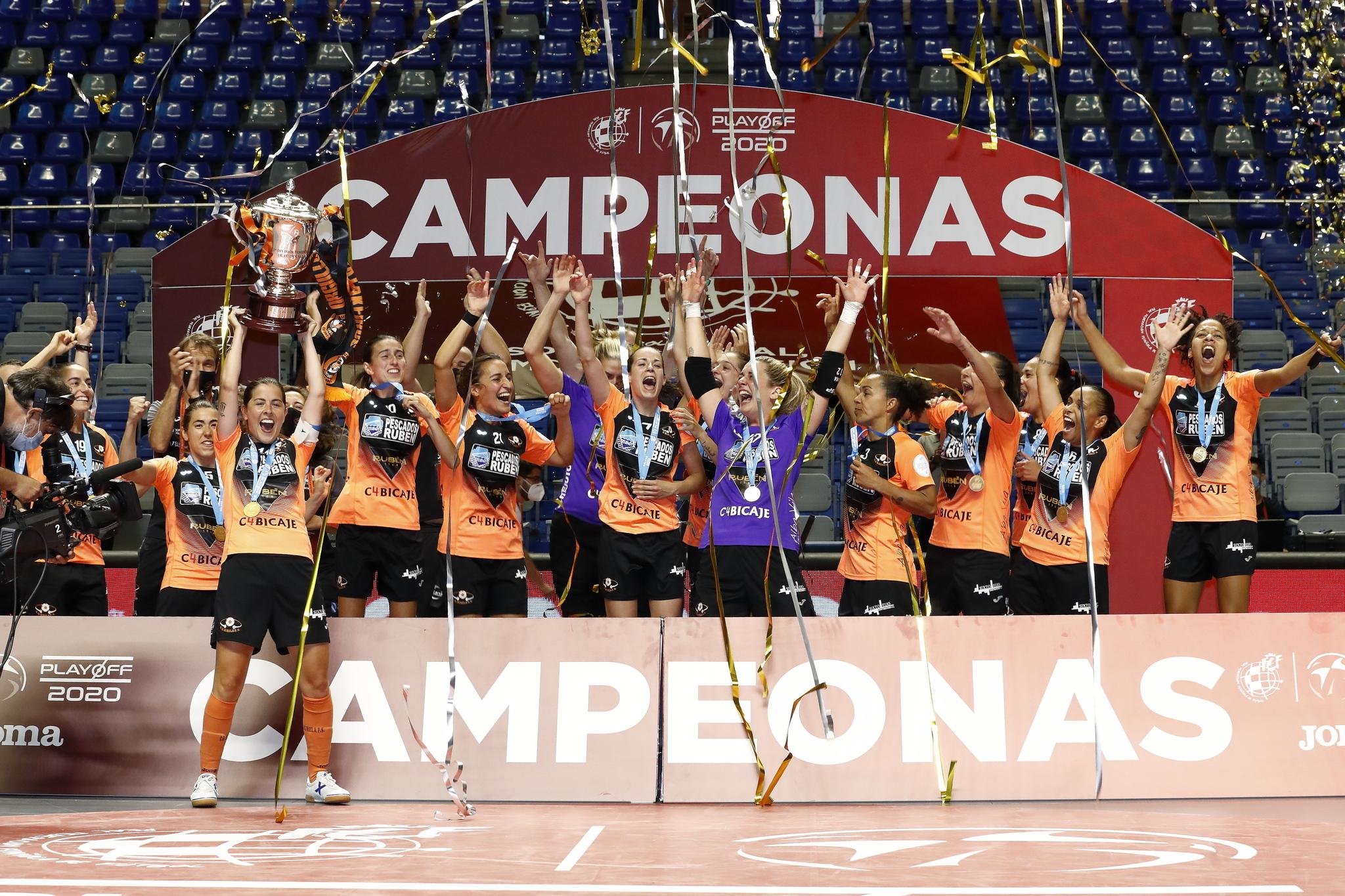 El Burela se proclamó campeón de liga de fútbol sala femenino de la temporada 2019-20