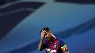 Messi, tras la derrota contra el Bayern en Champions League.