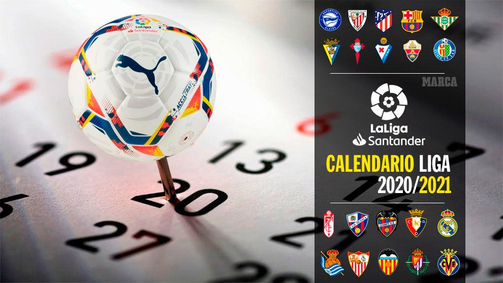 Mexico ayer Interpretar  Calendario Liga Santander 2020 - 2021 - Primera División - Partidos por  jornada